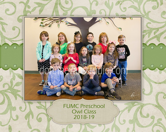 First United Methodist Church Preschool CLASS PICTURES 2019