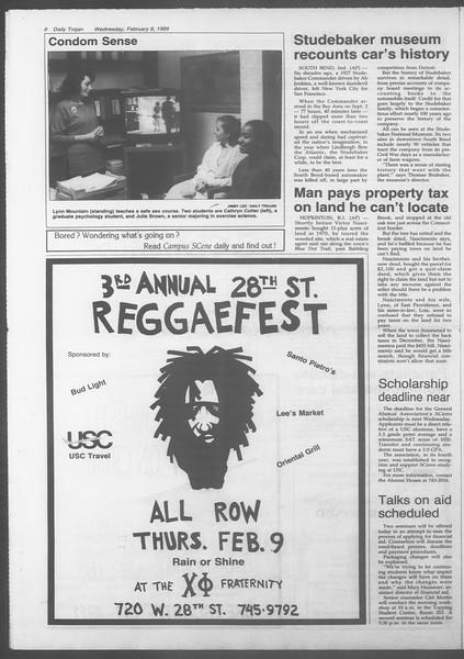 Daily Trojan, Vol. 108, No. 19, February 08, 1989