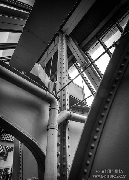 Ceiling Detail - Black & White Photography by Wayne Heim