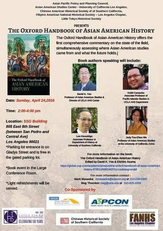 Oxford Handbook of Asian American History Book Lanuch