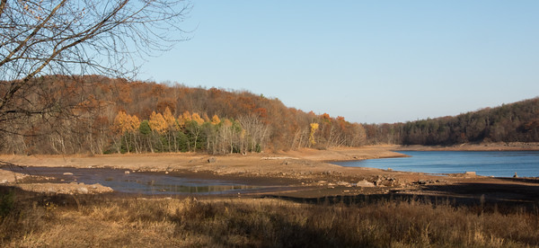 Drought at Shuttle Meadow Reservoir in 2016
