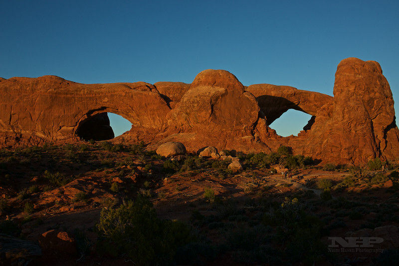 Arches National Park, UT,  North & South Window-