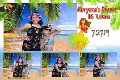 Abryana's Sweet 16 Luau