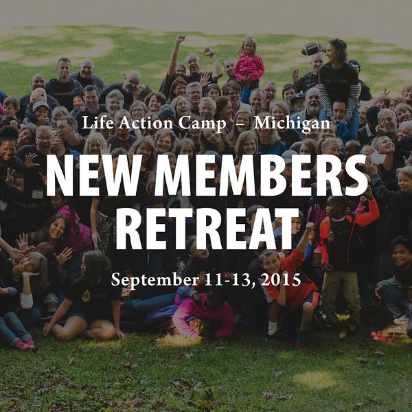 New Members Retreat 2015