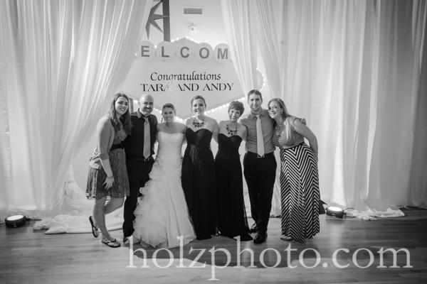 Tara & Andy B/W Wedding Photos