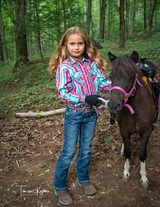 Mini Horse and cowgirl shoot