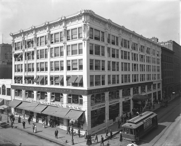 Exterior view of the Citizens National Bank Building, also known as the Cotton Exchange Building, ca.1913
