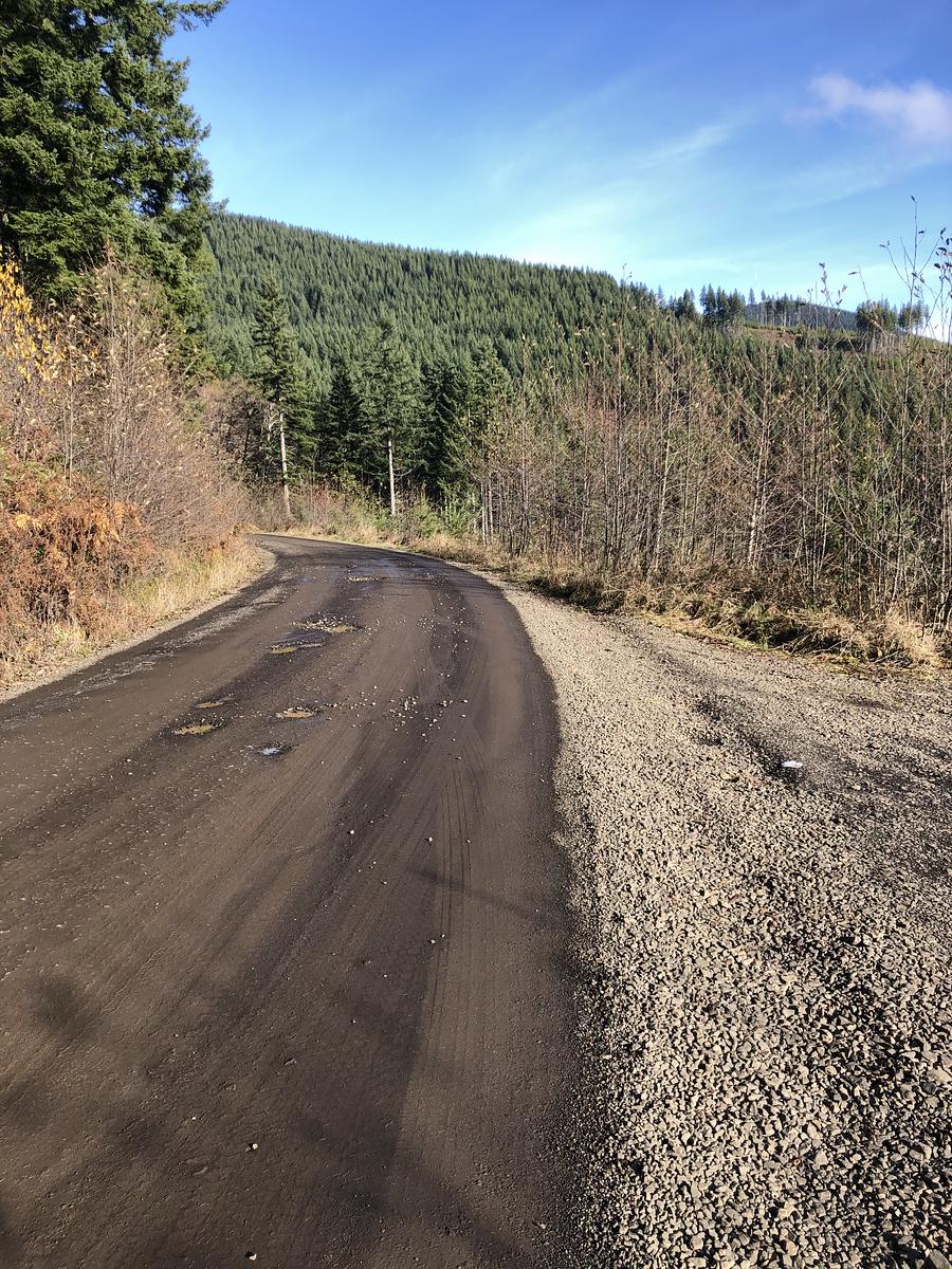 Beautiful day, slick roads