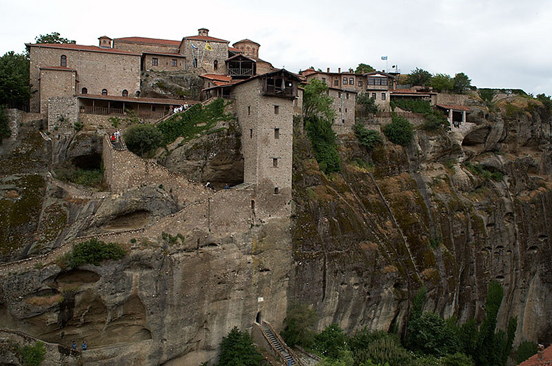 Moni Megalou Meteorou, the largest and highest monastery in Meteora..