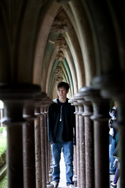 Henry in the cloister of Mont St.-Michel. It was an amazing place.