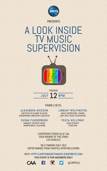 JHRTS Inside TV Music Supervision Panel (7/12/16)