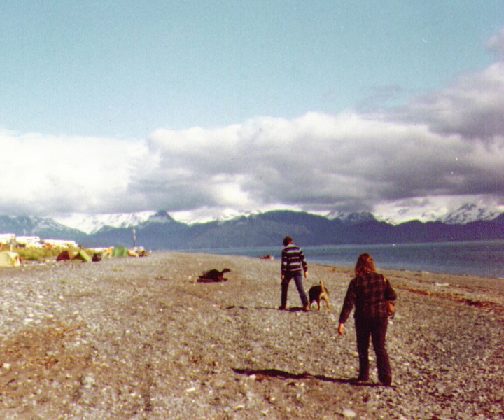 Dave, Tundra & Connie, Homer Spit, July 1980.jpg