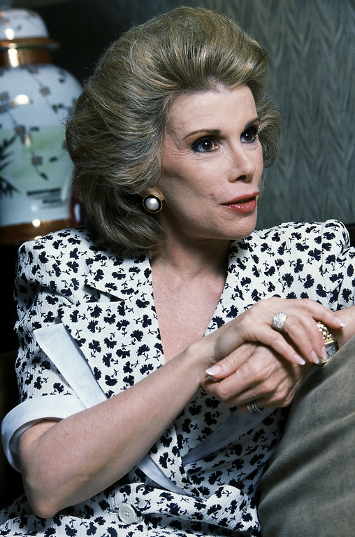""". Joan Rivers stars in Neil Simon\'s \""""Broadway Bound,\"""" on Broadway.  She\'s seen during an interview in New York, July 21, 1988. (AP Photo/Rick Maiman)"""
