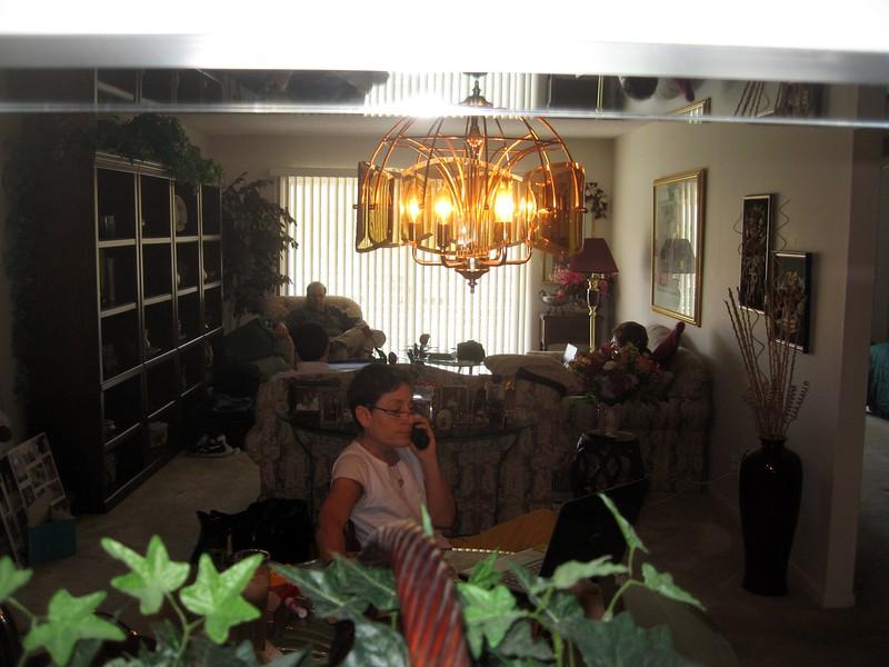 In Bernice's condo, Jamie (Bernice's granddaughter) orders bagels for the service