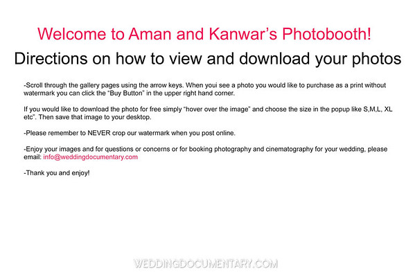 Aman +Kanwar Photobooth