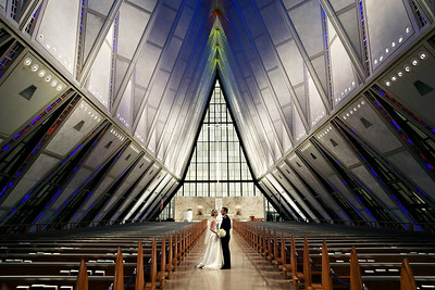 Wedding album: Penny and David at the Air Force Academy