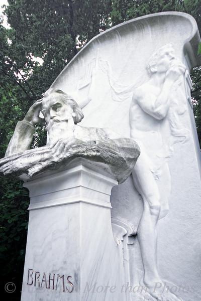 Vienna's central cemetery, Brahms' burial site.