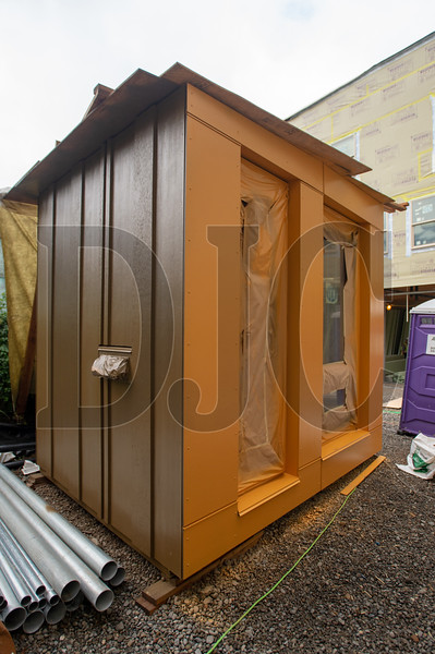 The mock-up at the Nesika Illahee apartment project, designed by Carleton Hart Architecture, is being converted into a tiny home. (Josh Kulla/DJC)