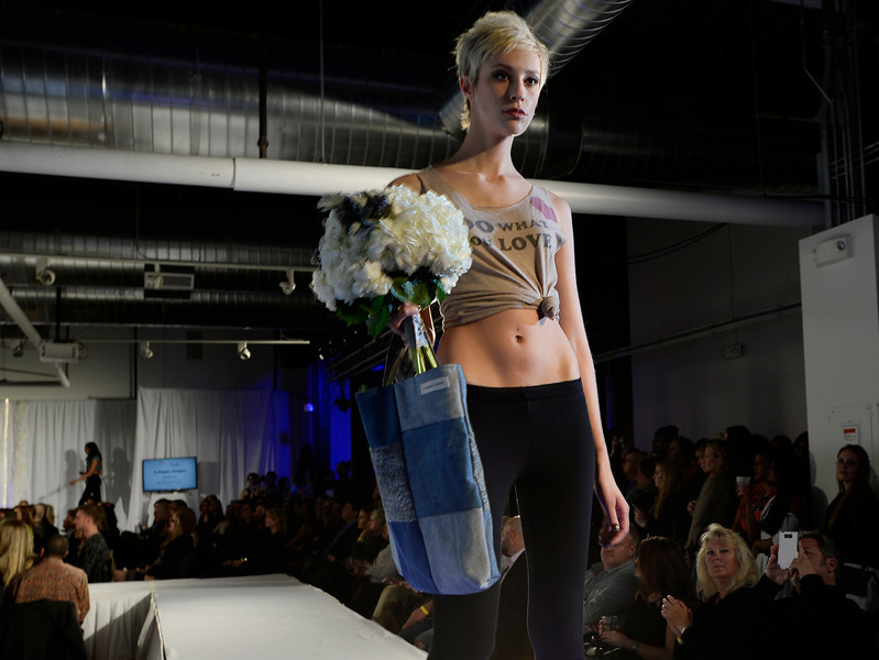 . B.Shigley Designs with Plum Sage Flowers at  the second annual Westword Whiteout Fashion Show at the McNichols Building in Denver feature Denver designers on Thursday, January 30, 2014.  (Denver Post Photo by Cyrus McCrimmon)