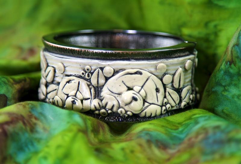 Sandra Miller Studio , One of a kind Chow Jewelry 2011