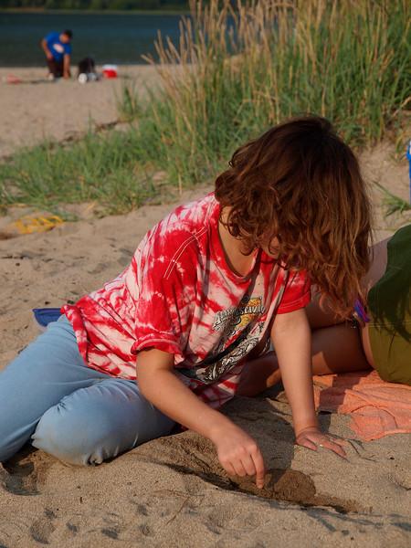 A little sun at Sandy Beach