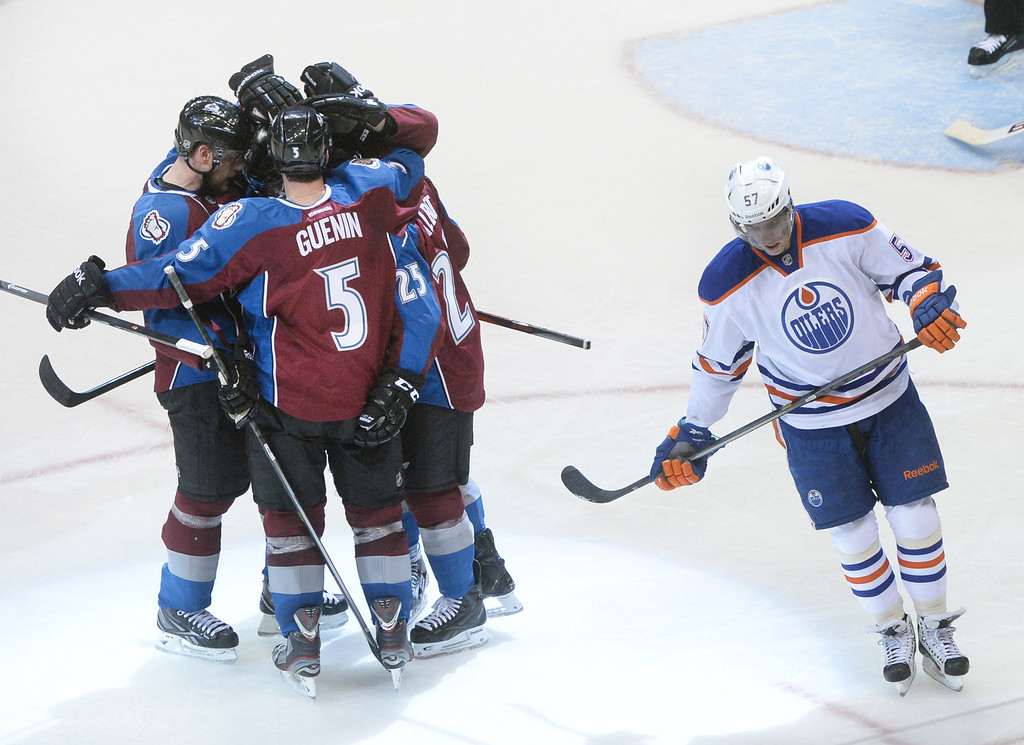 . DENVER, CO. - DECEMBER 19: Maxime Talbot got the game-winner in the second period. The Colorado Avalanche hosted the Edmonton Oilers in an NHL game at the Pepsi Center Thursday night, December 19, 2013.  Photo By Karl Gehring/The Denver Post
