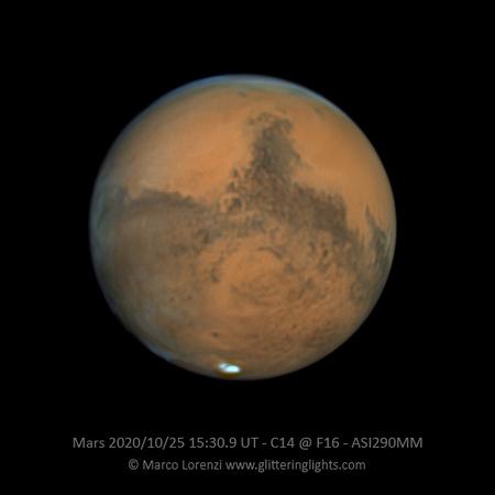 Mars on October 25, 2020