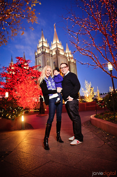 Pethö Family at Temple Square