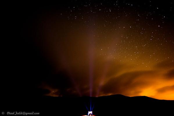 Landing Lights in Mitzpe Ramon
