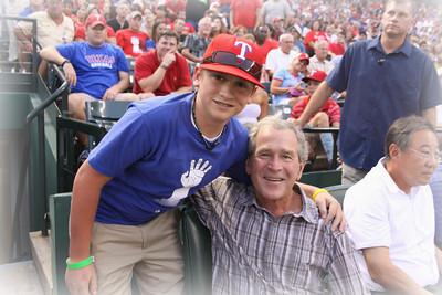 Nolan W Nolan Ryan & Pres Bush