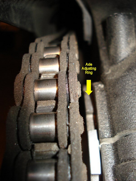 See the following article:  Ducati Multistrada 1200 / MTS1200 Drive Chain Adjustment