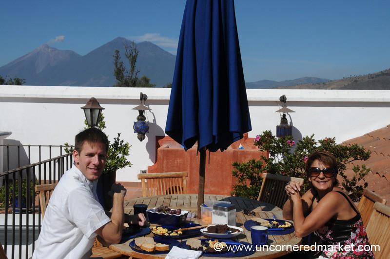 Rooftop Breakfast - Antigua, Guatemala