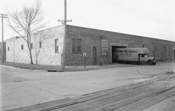 Elder Moving & Storage Company/Mayflower Warehouses, Inc. at 14th and Hubbard Streets in 1940. Courtesy of the State Archives of Florida, Florida Memory, http://floridamemory.com/items/show/51275