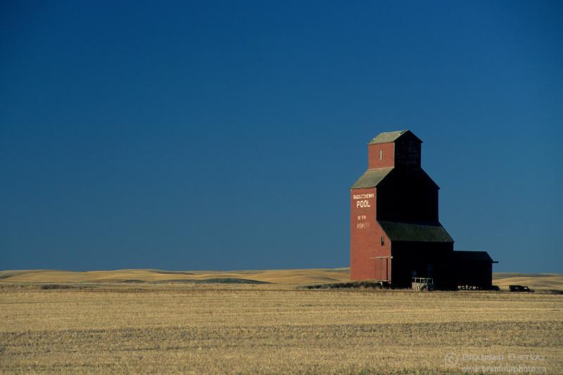 Grain elevator near Rosetown, Saskatchewan