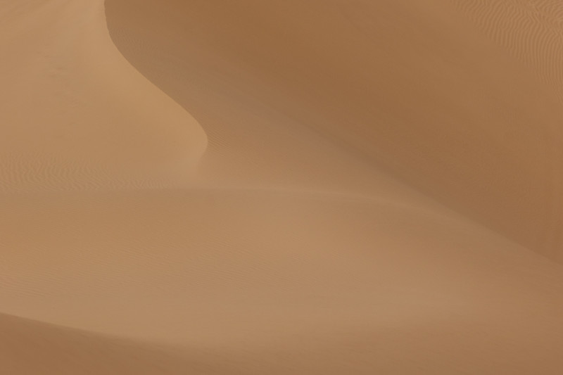 Abstract patterns in the sand of Algodones Dunes in California