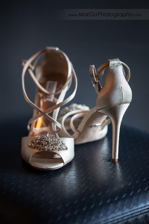 wedding shoes at San Diego Hyatt Regency Mission Bay Hotel