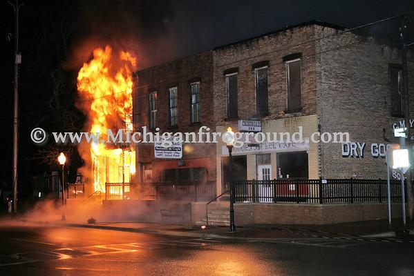4/20/11 - Dansville commercial building fire, 1380-1384 E. Mason St