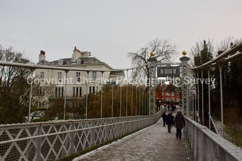 Queens Park Suspension Bridge: Victoria Crescent: Queens Park