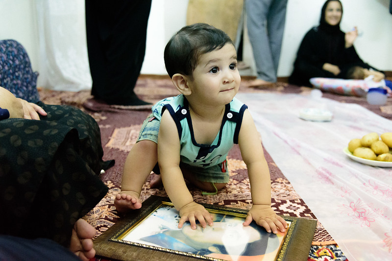 This little boy has a special status, because born on the same date that his uncle died during the Iraq Iran war.