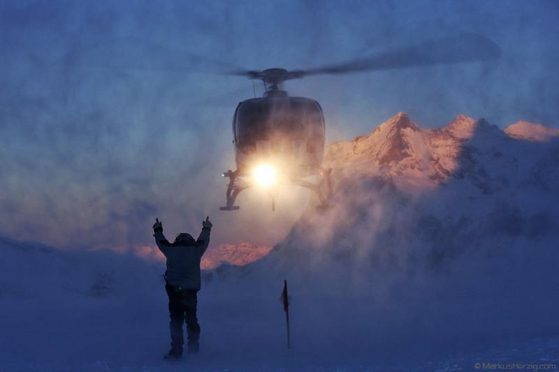 HB-ZIN EC130B4 Heli Alps @ Kleine Scheidegg Switzerland 13Jan08