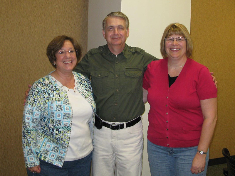Howard's retirement lunch. Howard has worked with Carol and Marla for over 30 years.