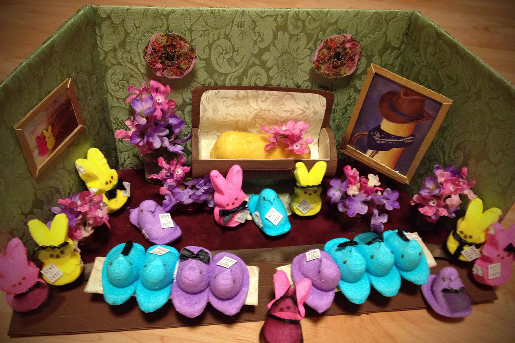 ". <b>SECOND PLACE:</b> ""Rest in Peep to our Fellow Treat,\"" by Jill Schaefer, Minnetonka"