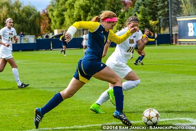 2nd Half from UM Women's Soccer Vs Iowa 10-5-14