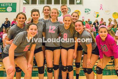 Volleyball - Freshman/JV:  Dig Pink - Woodgrove vs Loudoun Valley (by Michael Hylton)