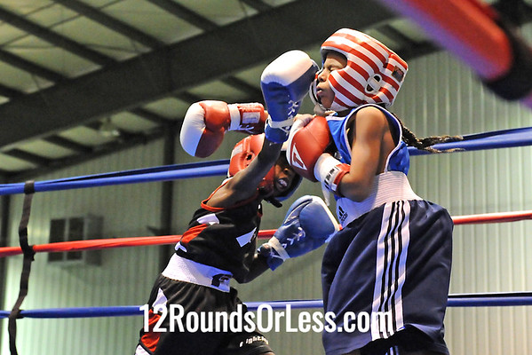 Bout #1  Raynell Harper,Untouchables -vs- Elijah Daniagua, Freddy's BC 60lbs, 8-10 yrs