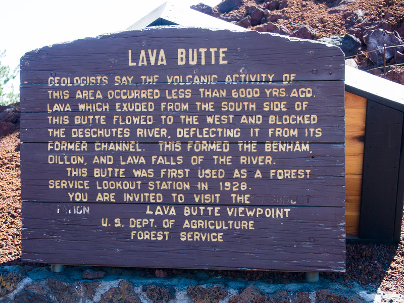 Our cottage was near Sunriver, which happens to be right next to the Newberry National Volcanic Monument.  Our first stop the next day was to the Lava Butte cinder cone