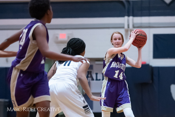Broughton JV girls basketball vs Millbrook. January 22, 2019. 750_5638