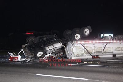 Woburn, MA - 4th Alarm Tanker Rollover, Route 95SB @ Exit 36, 7-16-12