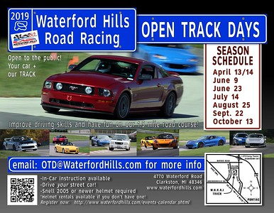 OPEN TRACK DAYS--Waterford Hills and M1 Concourse
