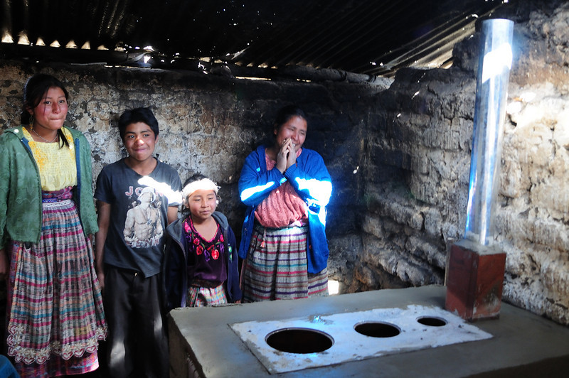 Some of the Familes Who Received a New Stove - Photos by Pierre Fortier